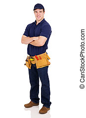 handyman with arms crossed