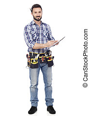 Handyman with clipboard
