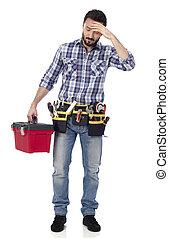 Handyman with headache