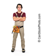 Handyman with his arms crossed