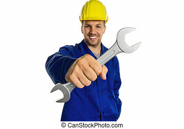 handyman with tool
