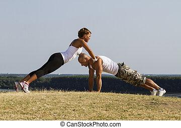 hane och kvinna, praktisera