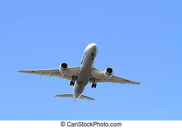 haneda, aéroport, avion, (b787), atterrissage