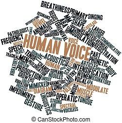 hang, emberi