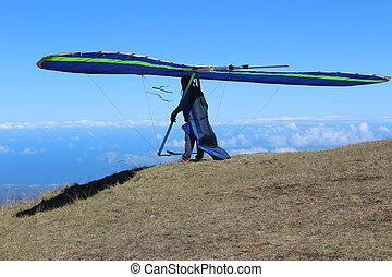 Hang Glider at Maui Hawaii