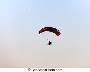 hang glider in the sky