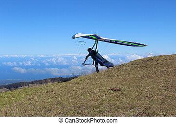 Hang Glider on Maui Hawaii