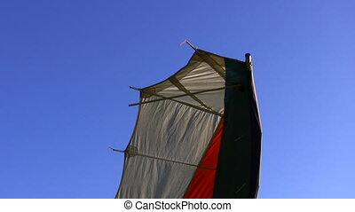 Hang glider wing tip - Close up of hangglider wing isolated...