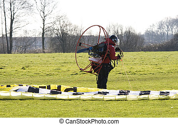 hang glider with motor