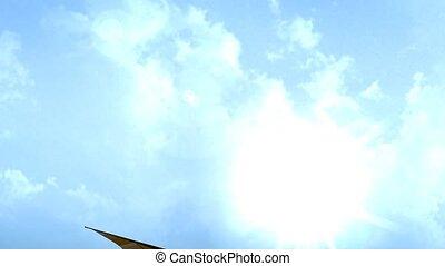 Air sport, hang gliding.