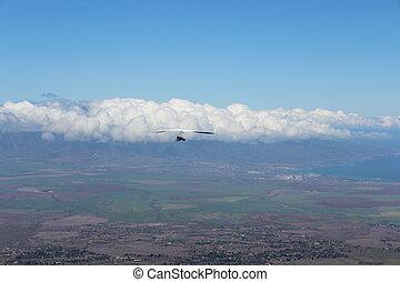 Hang Gliding over Maui Hawaii
