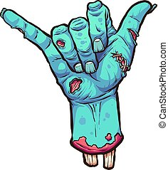 Hang looses zombie - Severed zombie hand making the hang ...