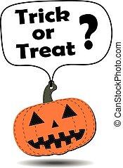 Hang tag Halloween pumpkin.