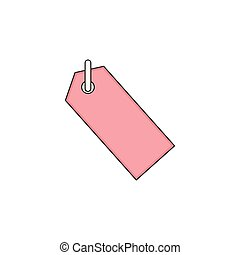 Hang Tag Label Vector Outline Icon Illustration