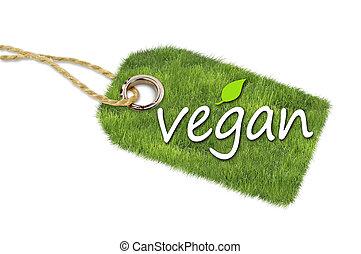 Hang tags label with vegan, bio, veggie and organic