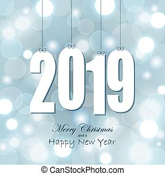 hang tags with year 2019 - white colored hang tag numbers...