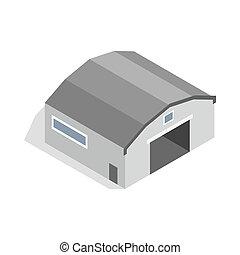 Hangar icon, isometric 3d style