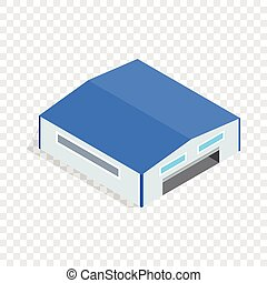 Hangar isometric icon 3d on a transparent background vector illustration