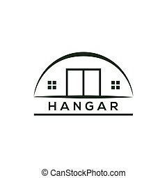 hangar logo amazing design for your company or brand