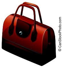 Hangbag in brown color illustration