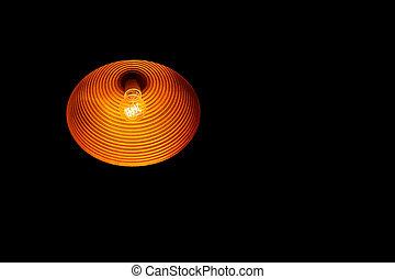 hangend, bloembollen, lamp, beurt, licht
