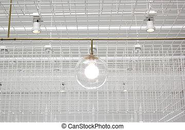 hangend, licht, lamp, moderne, beurt