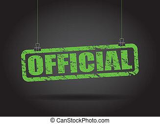 hangend, officieel, meldingsbord
