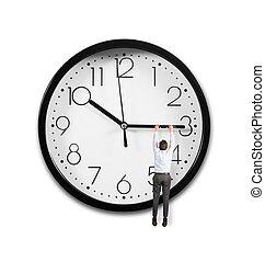 hangend, tijd