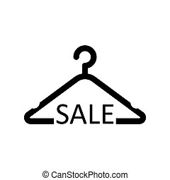 hanger, bevordering, illustratie, icon., korting, vector, product, kleren