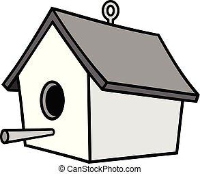 hanger, birdhouse, illustratie