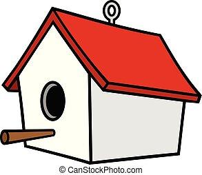 hanger, birdhouse