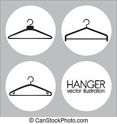 Hanger design over gray background, vector illustration