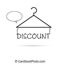 hanger for clothes illustration
