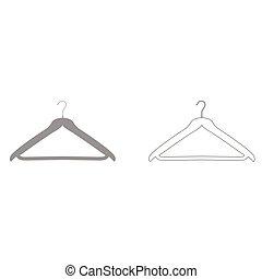 Hanger grey set icon .