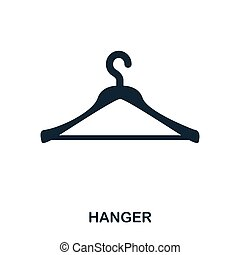 Hanger icon. Flat style icon design. UI. Illustration of hanger icon. Pictogram isolated on white. Ready to use in web design, apps, software, print.