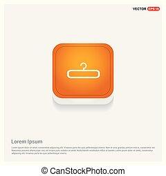 hanger icon Orange Abstract Web Button