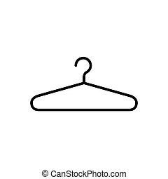 Hanger icon vector for graphic design, logo, web site, social media, mobile app, ui illustration