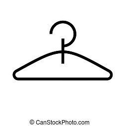 hanger icon, vector illustration, black sign on isolated background