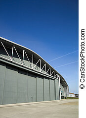 Hanger - Vast aircraft hanger on a perfect summer's day