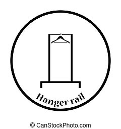 Hanger rail icon