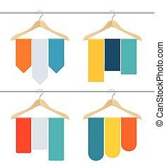 Hanger Sale Banner Set. Vector