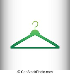 Hanger sign. Green gradient icon