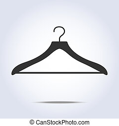 Hanger simple icon in vector gray color