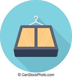 hanger vector colour flat icon