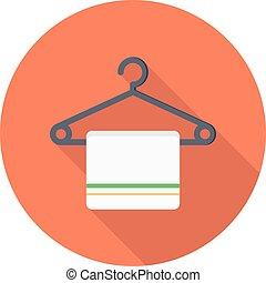 hanger vector flat colour icon