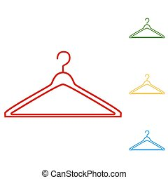 Hanger vector. Set of line icons