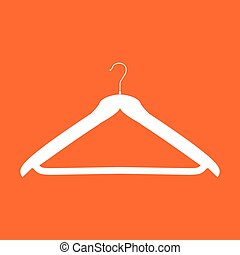 Hanger white color icon .
