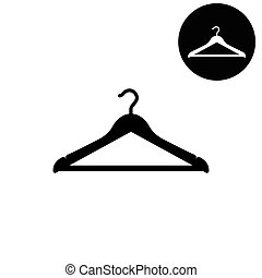 Hanger  - white vector icon