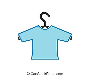 hanger with clothes illustration vector