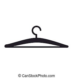 hangers clothes fashion icon vector